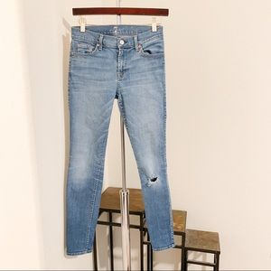 7 For All Mankind Distressed Skinnies.